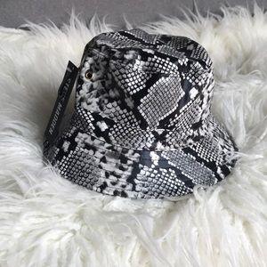 Steve Madden vegan snakeskin bucket hat